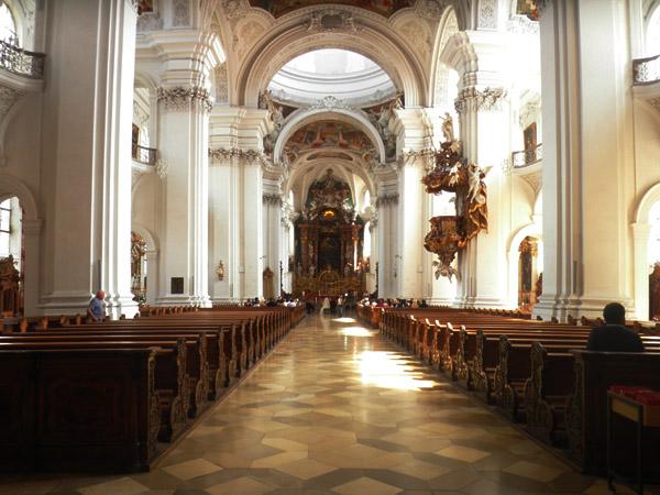 basilika weingarten mittelgang und altar