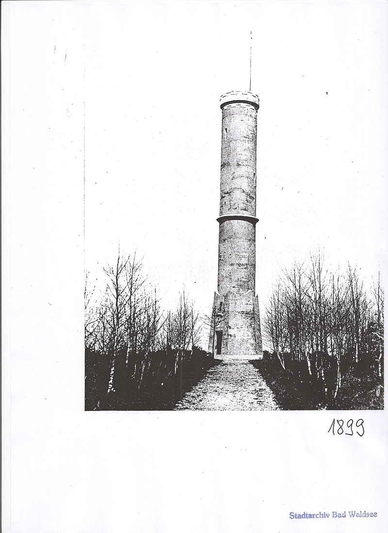 Bild des Kaiser Friedrich Turms in Bad Waldsee 1899