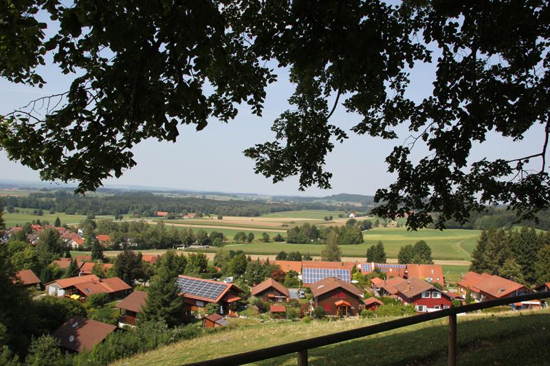 Blick nach Nordwesten - Aussichtspunkt Alttann Lindele