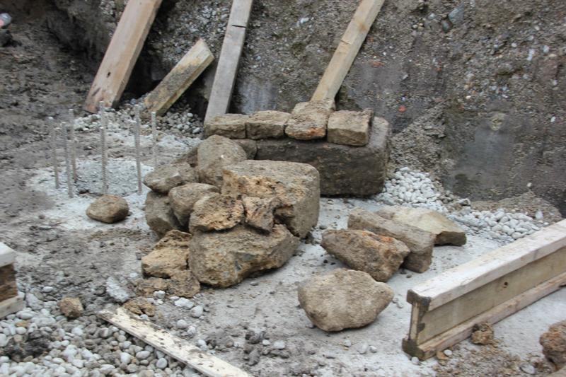 Steine der ehemaligen Stadtmauer Bad Waldsee