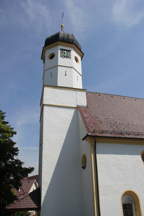 Zwiebelkirchturm Untermarchtal St Andreas